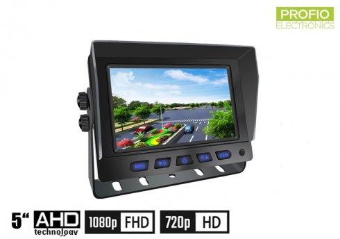 """Hybridný 5"""" monitor do auta: 2-CH, AHD/CVBS pre 2 kamery + diaľkové ovládanie"""