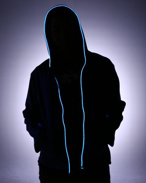 LED sweatshirt with headphones - Blue