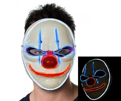 Maska Clown z lampą LED