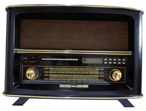Imitation antique radio - CD, AM / FM radio, USB, SD Card