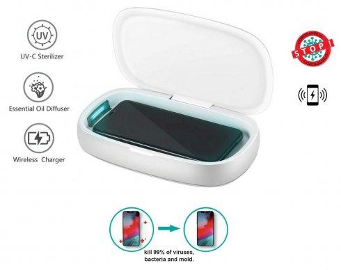 消毒ボックスXGerm ULTRA-2x 1W UV +ワイヤレス充電10Wで8分でアロマ滅菌