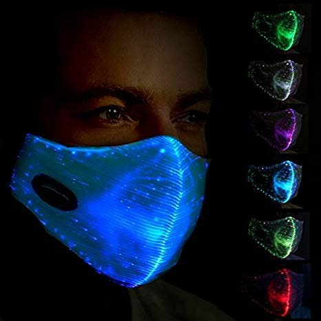 Rave DNB maska ​​za lice - LED multi-color