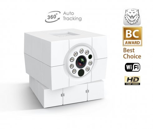 Monitoring HD IP camera for home use iCam Plus - 8 IR LED + rotary angle of view of 360 °