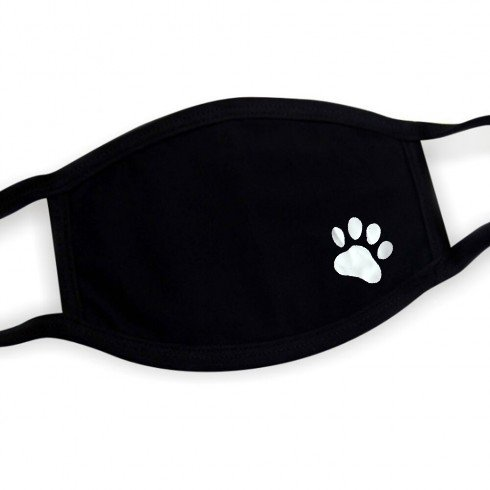 Printed face mask 100% cotton - DOG PAW