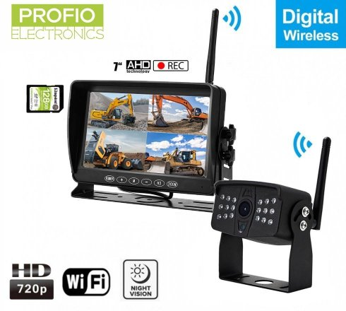 "WiFi Aversni set AHD sa snimanjem na SD - 1x AHD wifi kamera IP69 + 7 ""LCD DVR monitor"