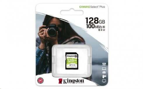 Kingston Canvas Select Plus SDXC 128 ГБ UHS-I U1 (100R / 85 Вт)