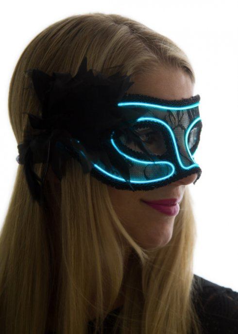 Neon masks - Blue