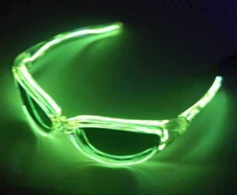Illuminated glasses - green