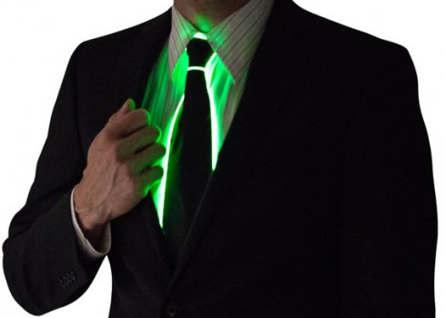 The illuminating Tie - Green