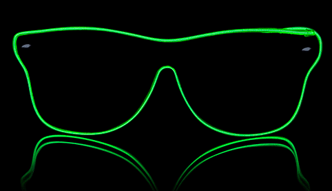 Neon glasses Way Ferrer style - Green