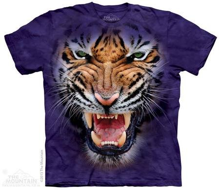 Berg T-shirt - Wütend Tiger