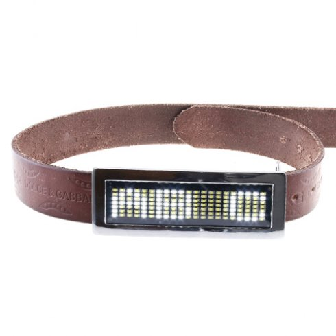 Led Belt - beli kovinski okvir