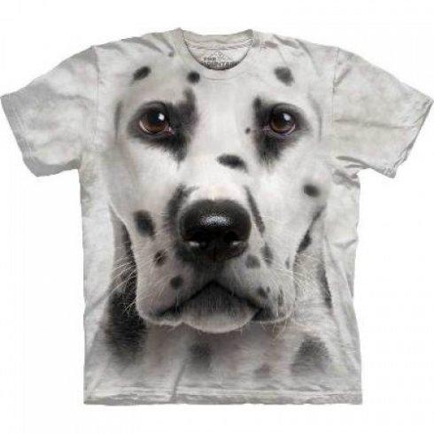 Животное лицо футболку - далматин