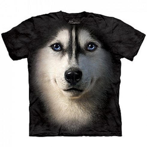 Animal face t-shirt - Siberian Husky