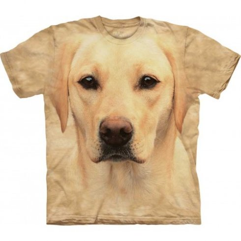 Animal face t-shirt - golden Labrador