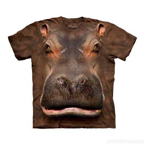 Animal face t-shirt - Hippo
