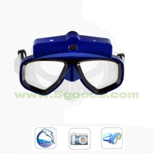 Underwater digital camera mask HD