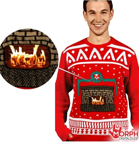 Morph interactive sweater - Fire in fireplace