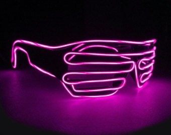LED Party grate glasses - Pink