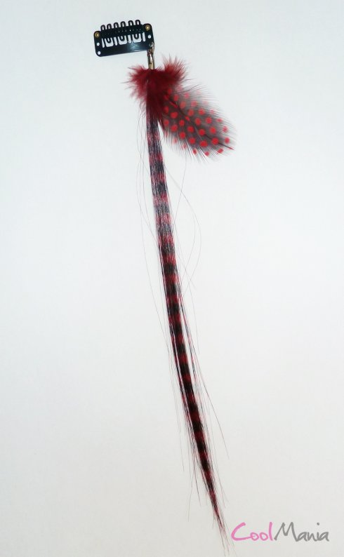 Feather hair extension – Red feather
