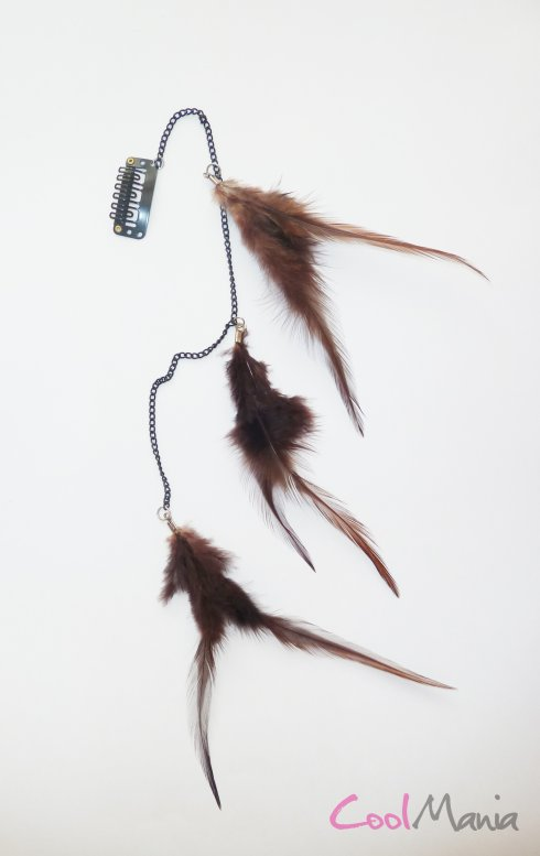 Estensione dei capelli Feather - marrone scuro