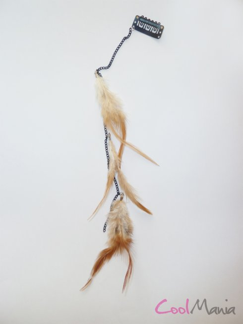 Feather hair extension – Light brown