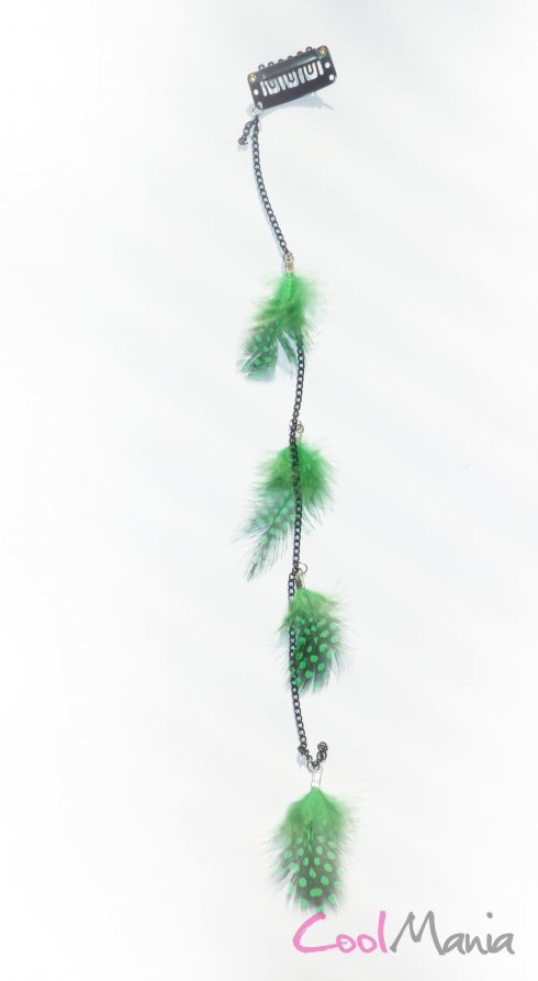 Feather hair extension – Light green