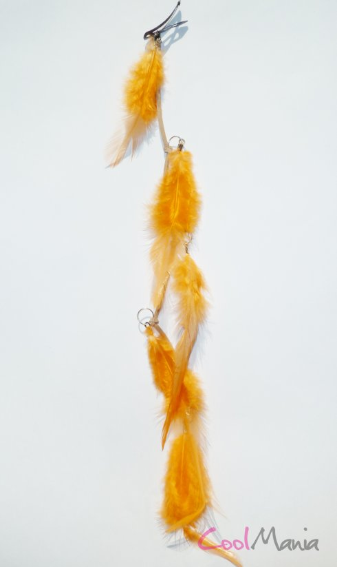 Feather hair extension – Fashion orange feathers