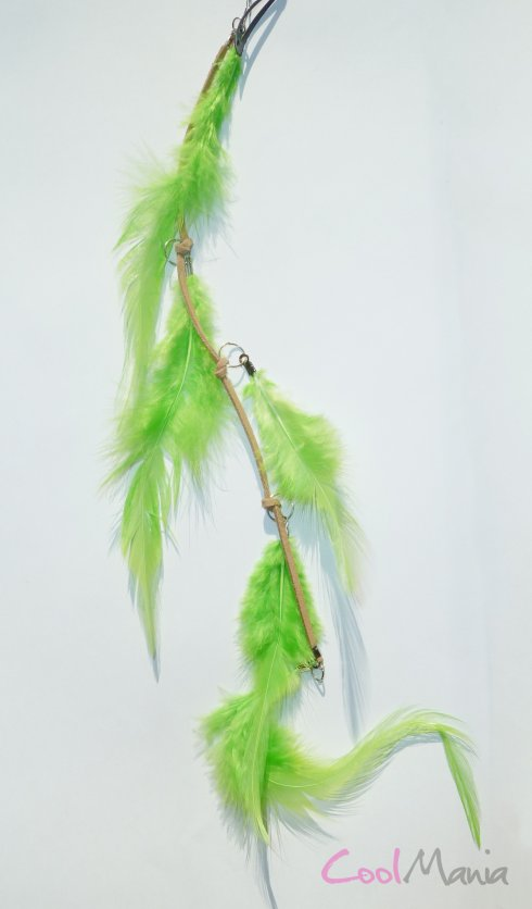 Feather hair extension – Green