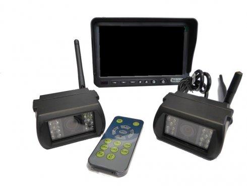 """Wifi Set 2x parkovacích kamier s IR + 7"""" LCD"""