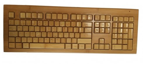 Bamboo keyboard and mouse with Wifi - PC Set