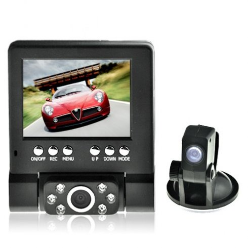 Car backup dvr with extra reversing camera - 6x IR LED