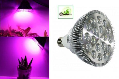 Светодиодная лампа для растений 54W (18x3W)