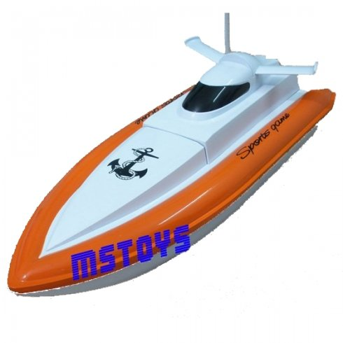 RC Model boat - HY 800 Orange Rescue