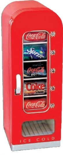 Retro refrigerator in the style of the vending machine with capacity 18L /10 cans