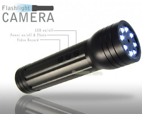 Flashlight with camera - 8 white LED