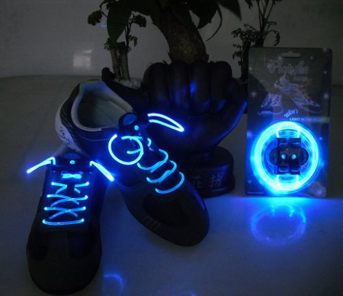 Lacets LED - bleu