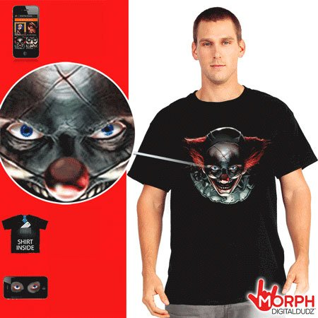 Halloween Morph T-shirts - Creepy Clown