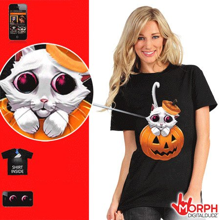 Divertente Morph T-shirt - Kitty
