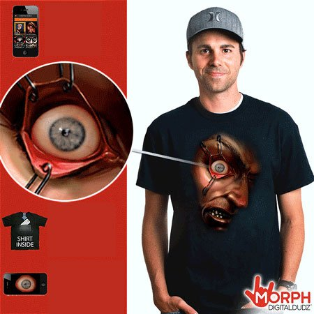 Halloween Morph shirt - scary eye