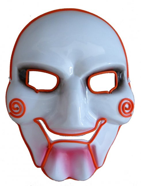 Blinkende Maske SAW - Orange