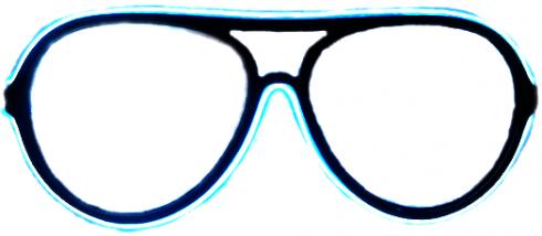 Neónové okuliare  - Biele