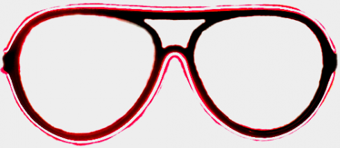 Neon okulary - Red