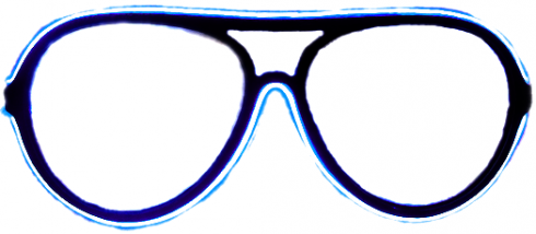Neon glasses - Blue