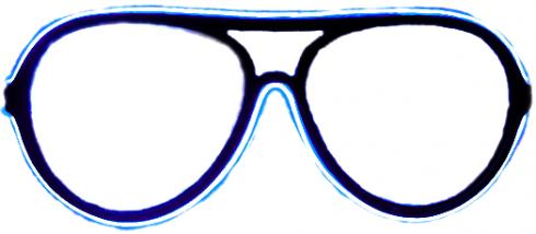 Neon Gläser - Blau