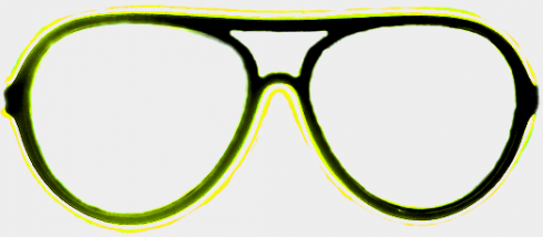 Neon glasses - yellow