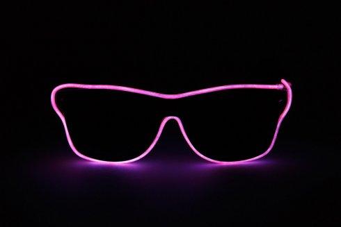 Brýle blikající Way Ferrer style - Růžové