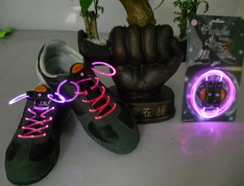 LED shoelaces - purple