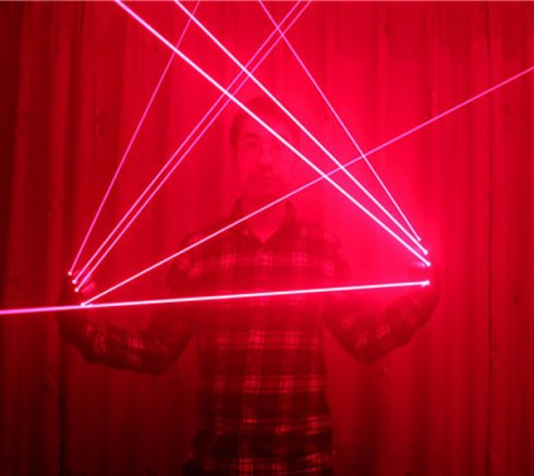Laser rukavice 4x Red