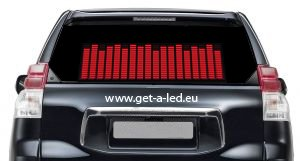 Sound Car Stickers - Red 42 x11 cm